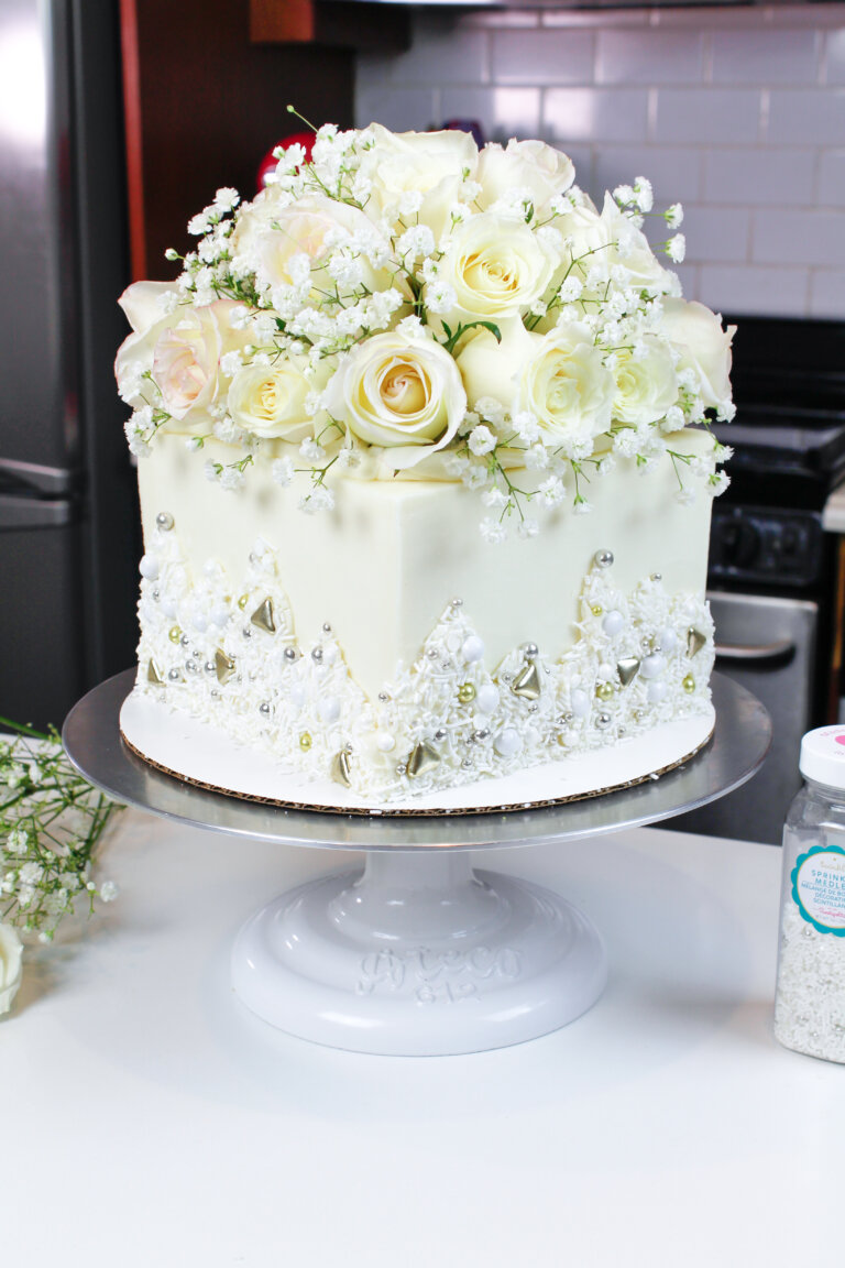 White Wedding Cake Recipe Sour cream cake, Wasc cake
