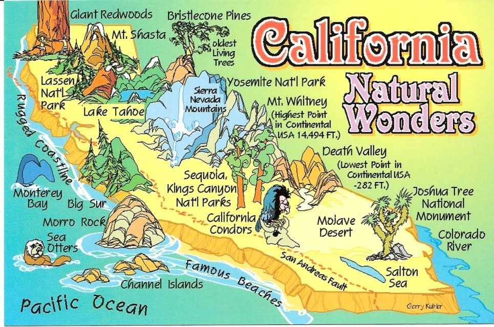 California Tourist Map Geotripper The Other California The