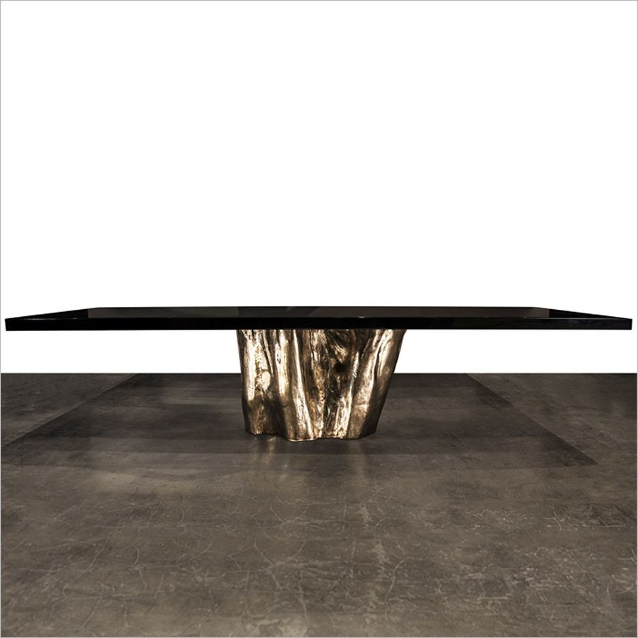 Mayson Dining Table Solid Silicon Bronze Details Hudson