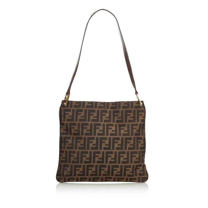 Fendi brown cloth handbag fendi handbag bags fendi