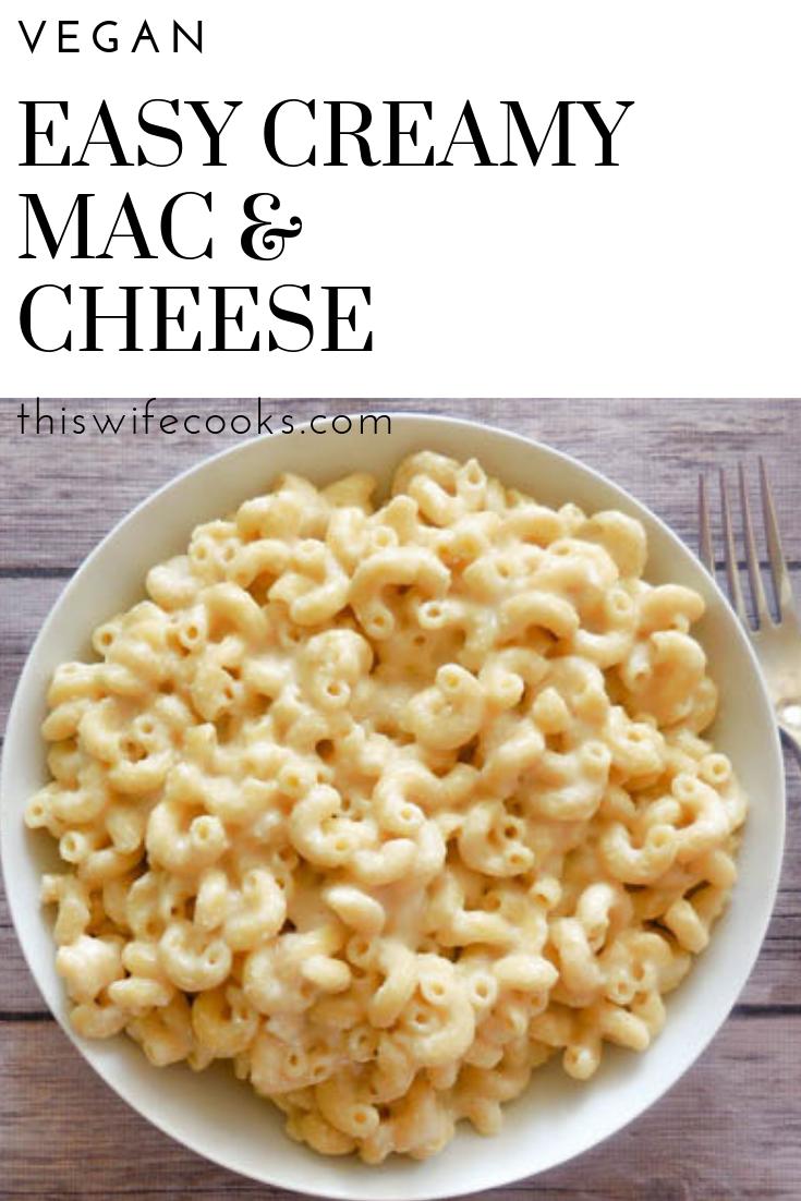 Creamy Vegan Mac Cheese Recipe Mac And Cheese Vegetarian Meals For Kids Vegan Dinner Recipes