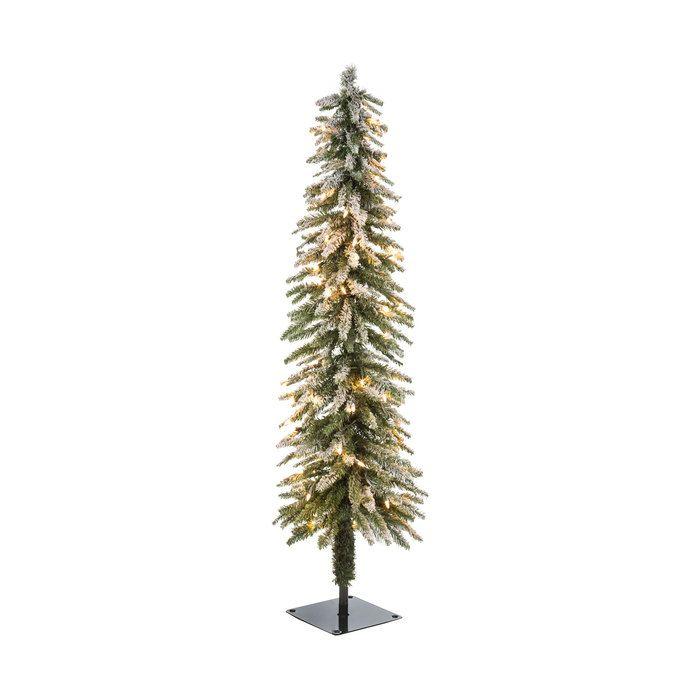 Green Flocked Alpine Accent Pre-Lit Christmas Tree - 4' - Green Flocked Alpine Accent Pre-Lit Christmas Tree - 4' Wish List