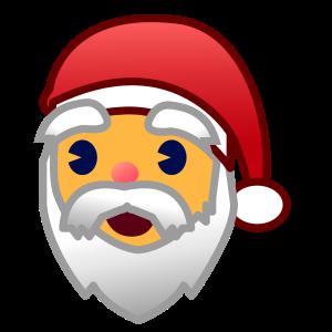 Santa Claus On Emojidex 1 0 14 Emoji Santa Claus Christmas