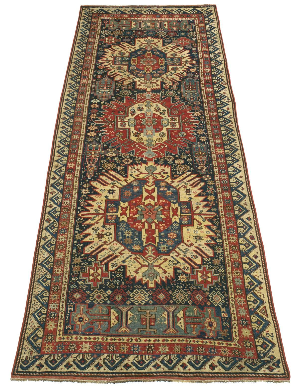 SEICHUR KUBA, Southern Caucasian (SOLD) 3ft 8in x 10ft 2in 2nd Quarter, 19th Century  http://www.claremontrug.com/antique-oriental-rugs-carpets/antique-rugs-SEICHUR+KUBA%2c+Southern+Caucasian-2674?