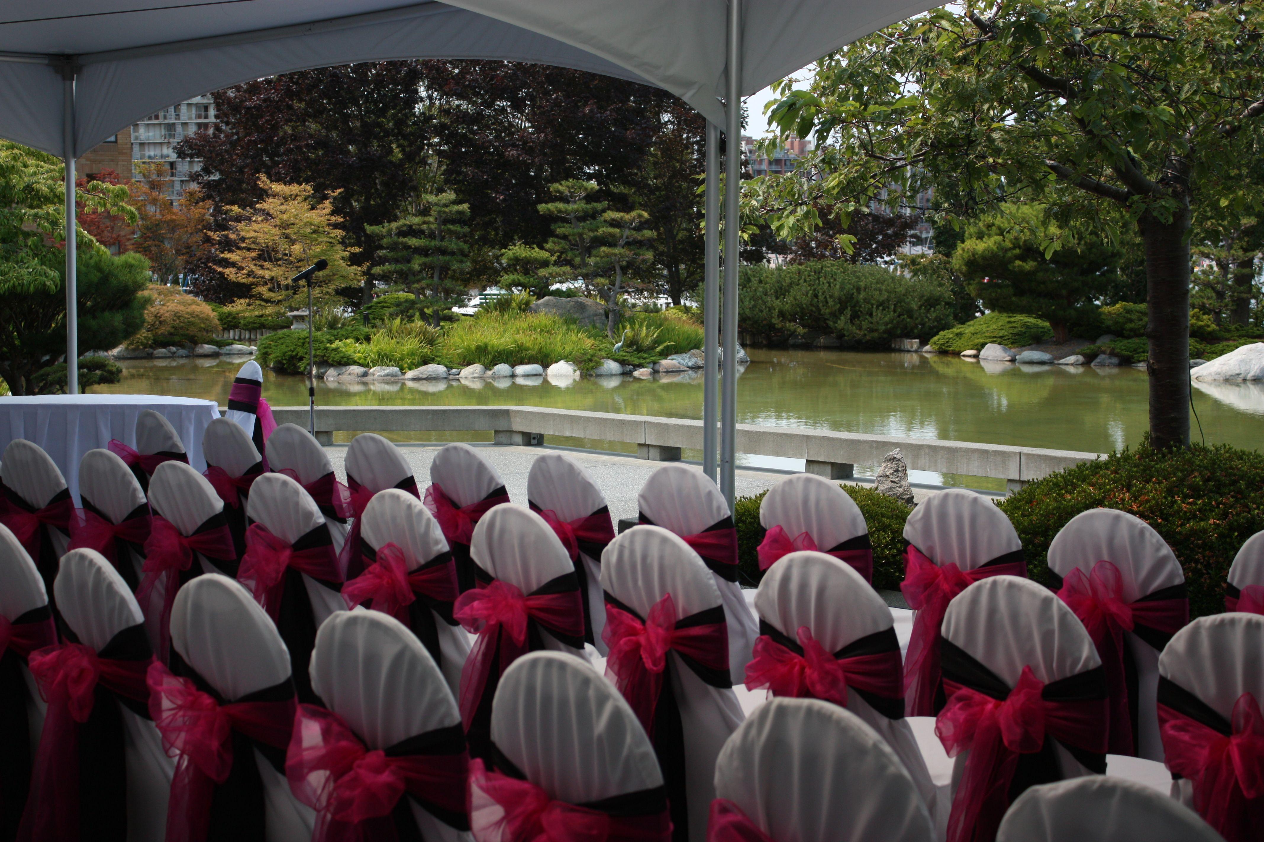 Pink & Black Wedding Ceremony