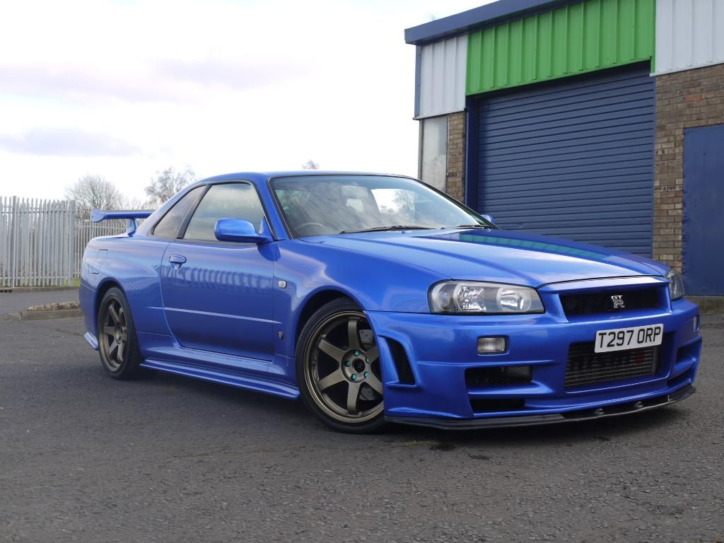 bayside blue r34 gtr stunning condition 390bhp gt r. Black Bedroom Furniture Sets. Home Design Ideas
