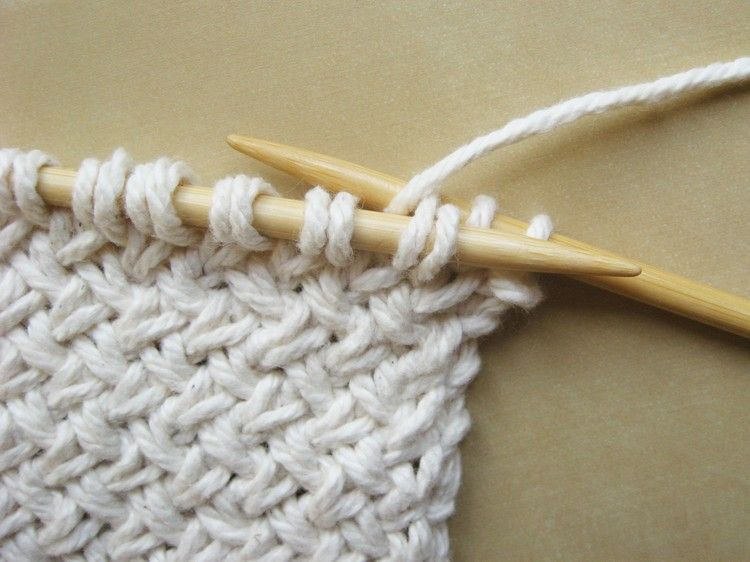 Diagonal Basketweave Knitting Pattern   Puntos de aguja, Tejido y ...