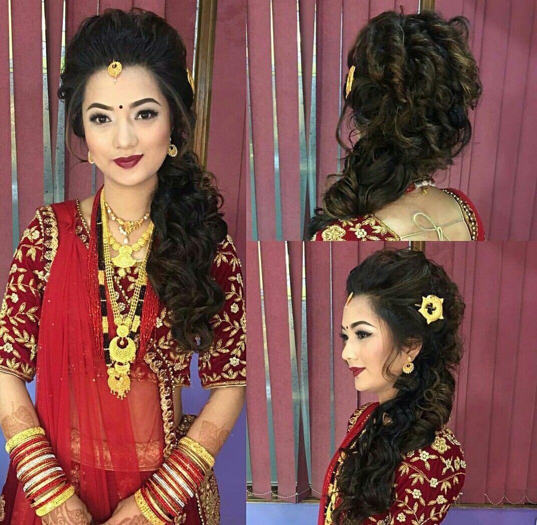 Nepali Wedding Tradition Nepal Marriage Bride Makeup Simple Saree Dress Saree Hairstyles Beautiful Wedding Dresses Desi Beauty