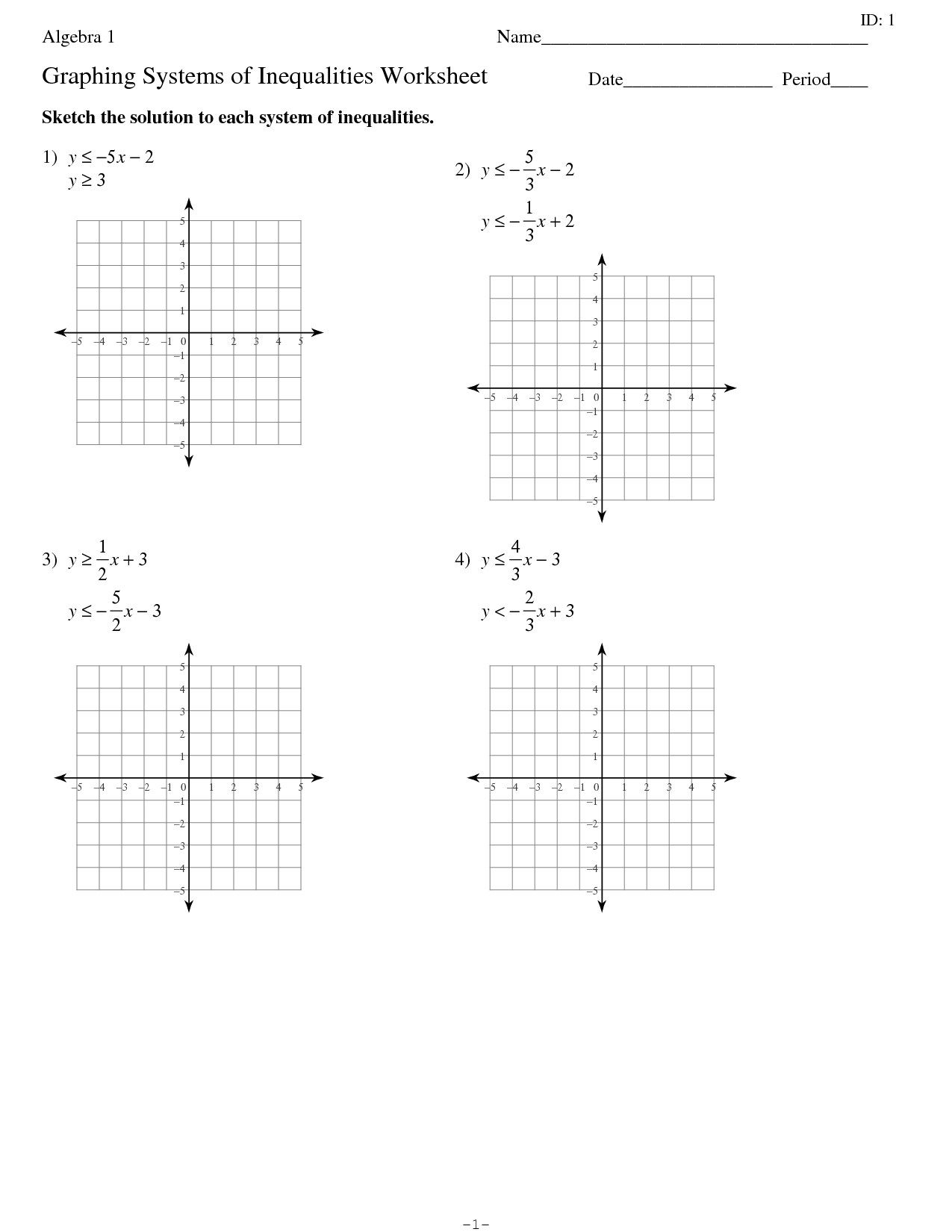 Pre Algebra Worksheets With Answers Pics In