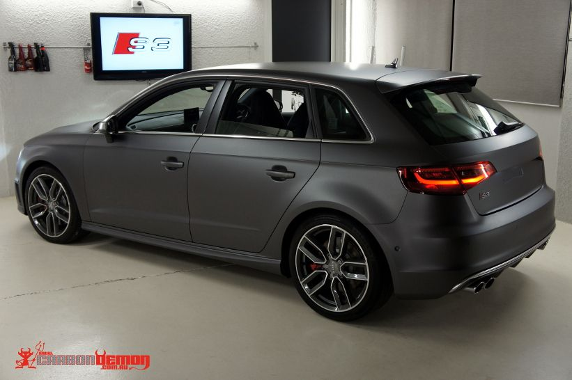 audi s3 matte metallic grey vinyl wrap car pinterest. Black Bedroom Furniture Sets. Home Design Ideas