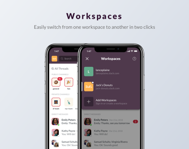 Slack iPhone Redesign Concept (With images) Redesign