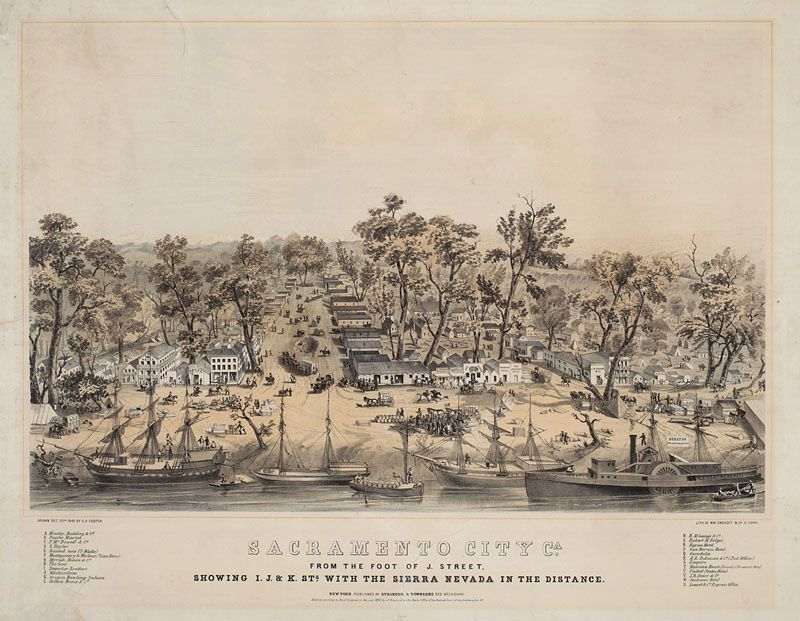 Lithograph by Charles Parsons after George Cooper  Courtesy of The Bancroft Library, University of California, Berkeley - On the Water - Maritime Nation, 1800-1850: To California by Sea