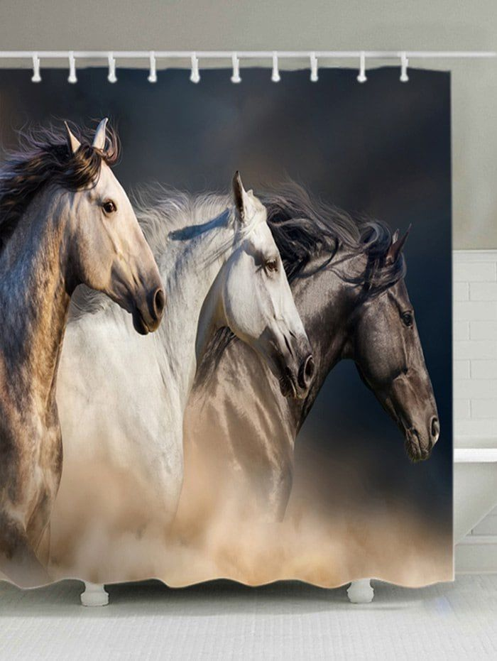 horses print fabric waterproof shower curtain horse on walls coveralls website id=27917