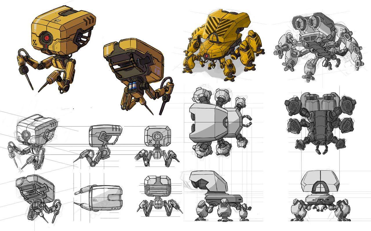 Small Robot Concept Art