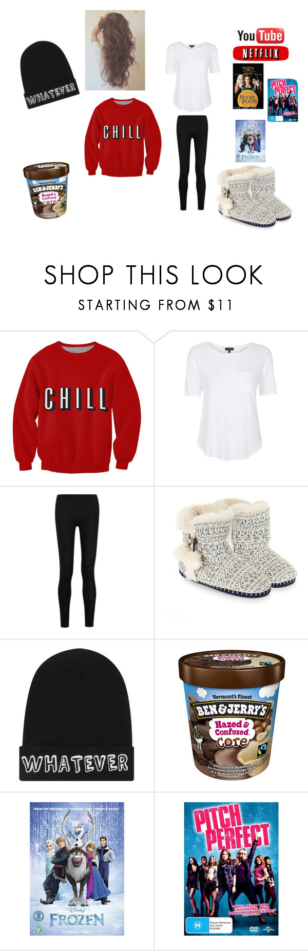 """""""netflix and chill"""" by skirmantesatkute on Polyvore featuring Topshop, Donna Karan, Accessorize, Local Heroes and Disney"""