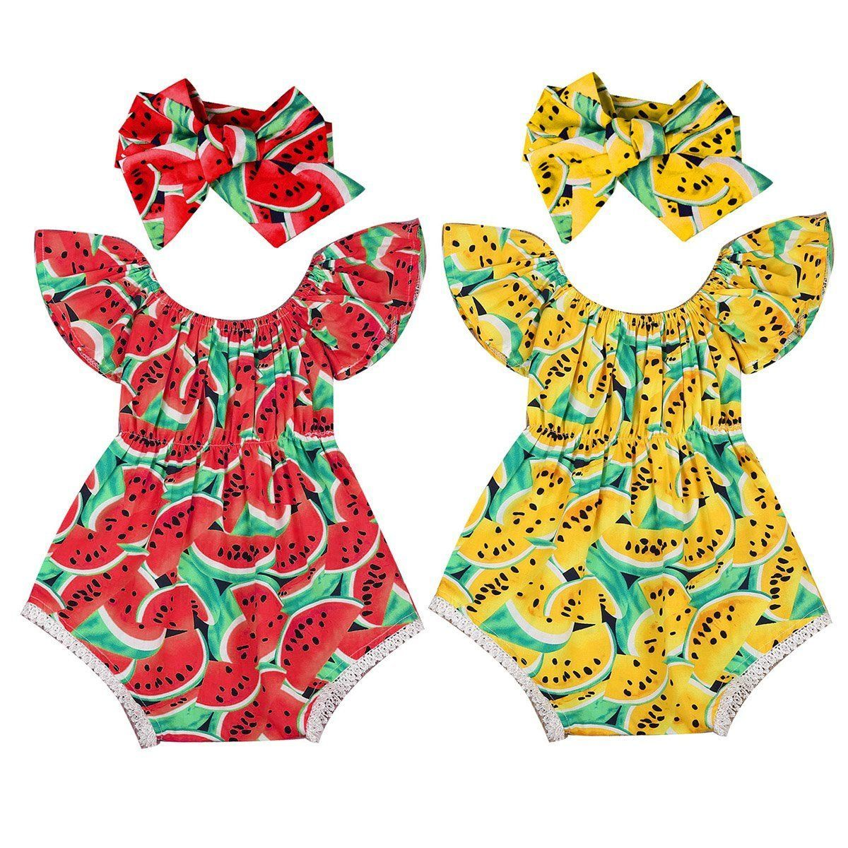 fc71a4daf Newborn Infant Baby Girl Cotton Romper Bodysuit Jumpsuit Headband ...