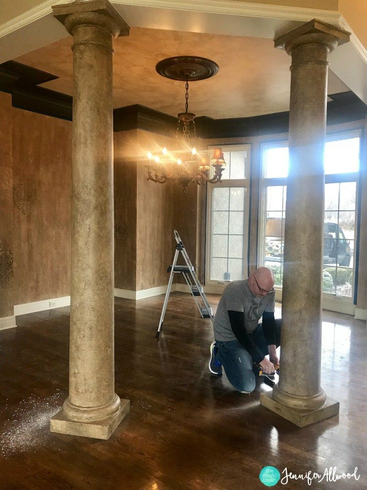 How We Updated Our Interior Faux Columns Dining Room Makeover Dining Room Makeover Interior Columns House Pillars