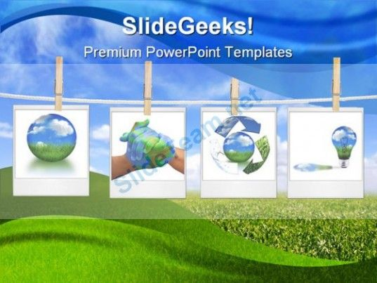 Recycle Collage Globe PowerPoint Template 0810 #PowerPoint