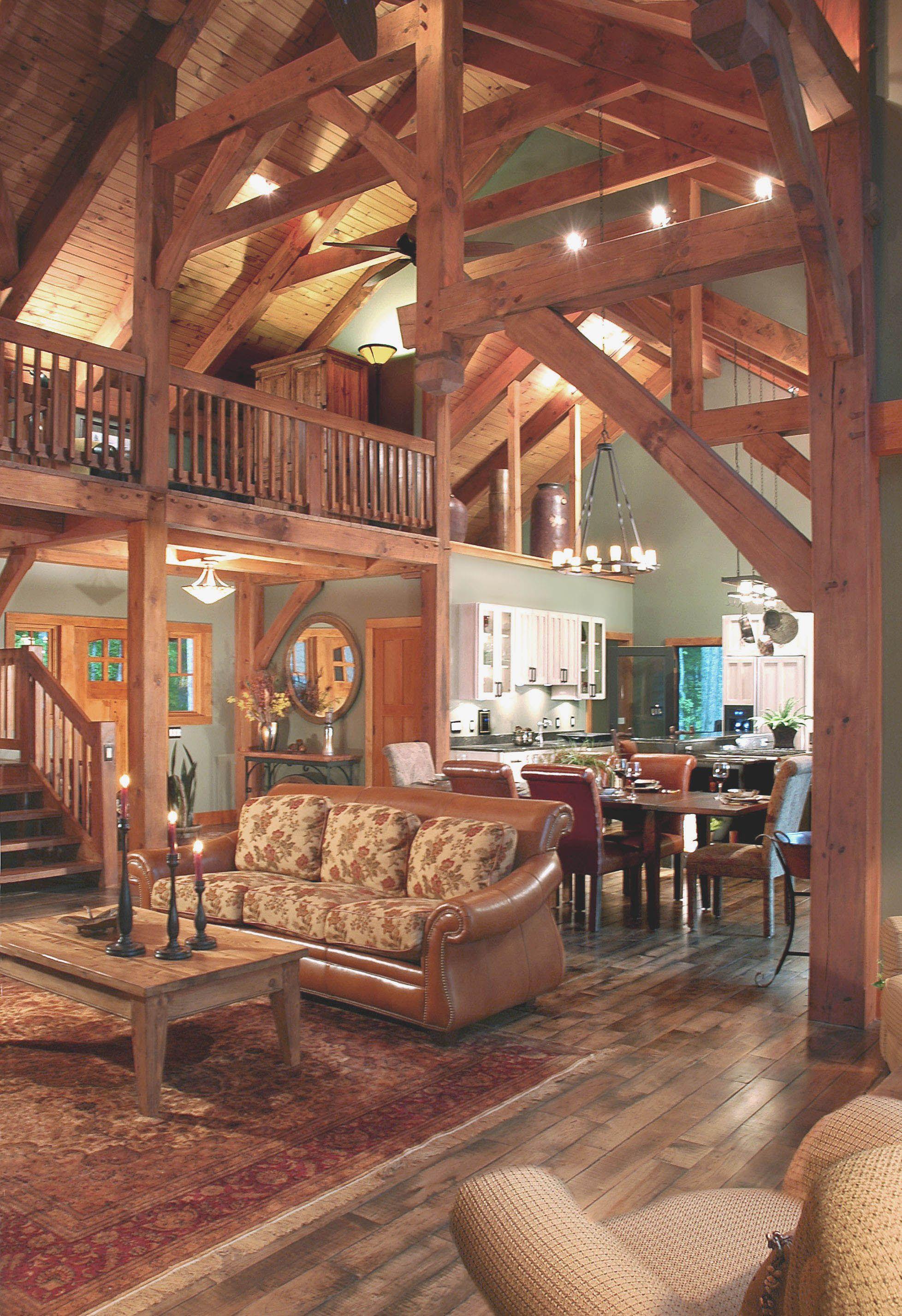 Timber Frame Home Interior Design House Design Ideas