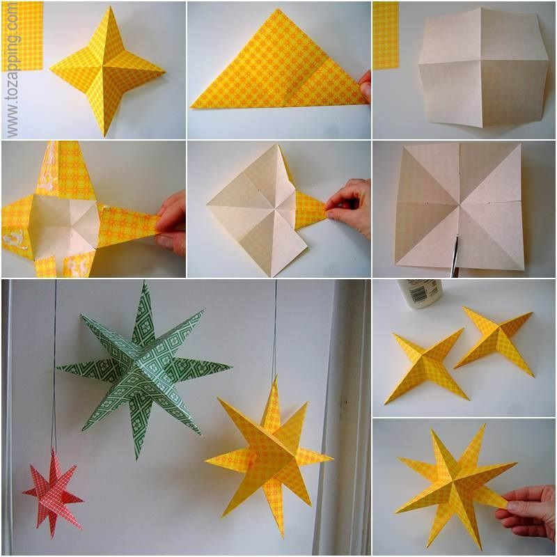 Estrellas de papel manualidades pinterest estrellas - Estrellas de papel para navidad ...
