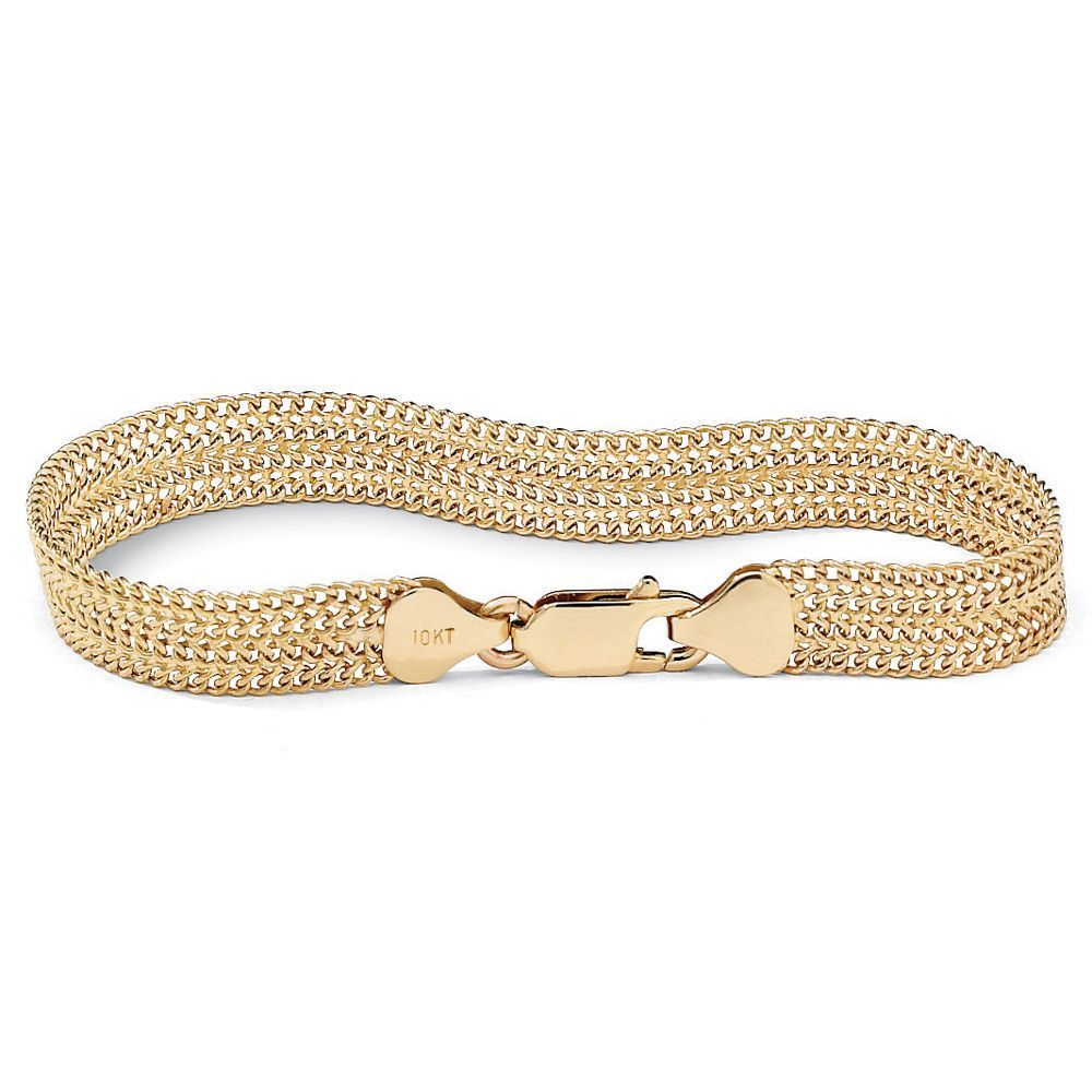 metallic herringbone karat in loren gallery bangle gold stewart bracelets bangles jewelry lyst bracelet