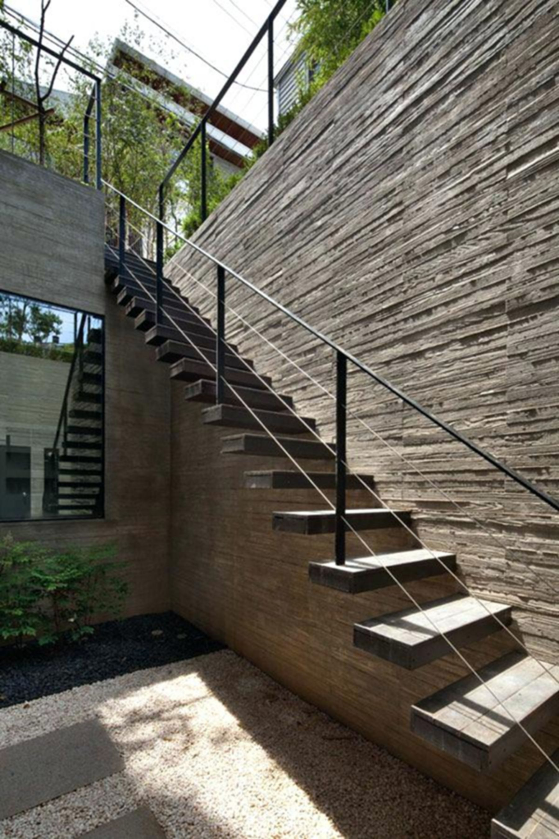 10 Stunning Outdoor Stair Design Ideas For Your Home Exterior Exterior Stairs Outdoor Stairs House Exterior