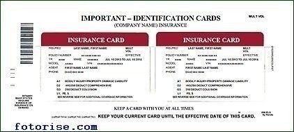 Auto Insurance Id Card Template - Best Sample Template Design