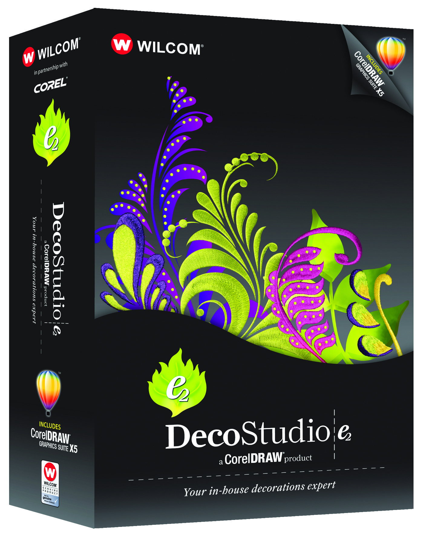 The DecoStudio e2 is design software for embroidery, printing, laser