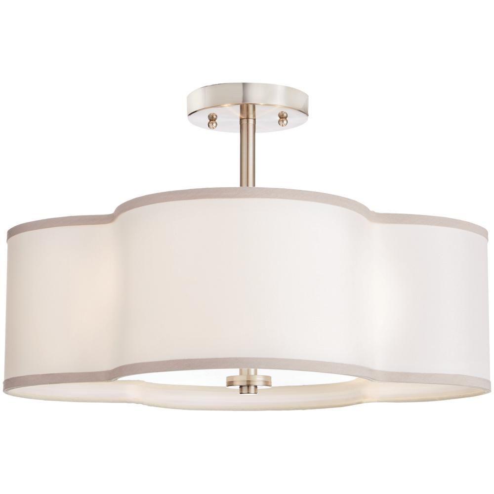 Home Decorators Collection 4 Light Brushed Nickel Semi Flush Mount