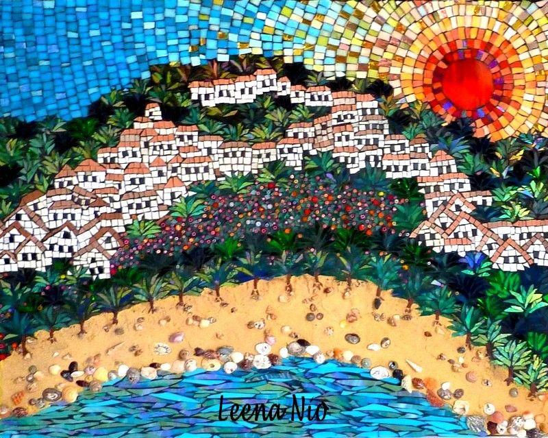 MOSAIIKKI LEENA NIO - MOSAIQUE MAGIQUE: Spanish beach