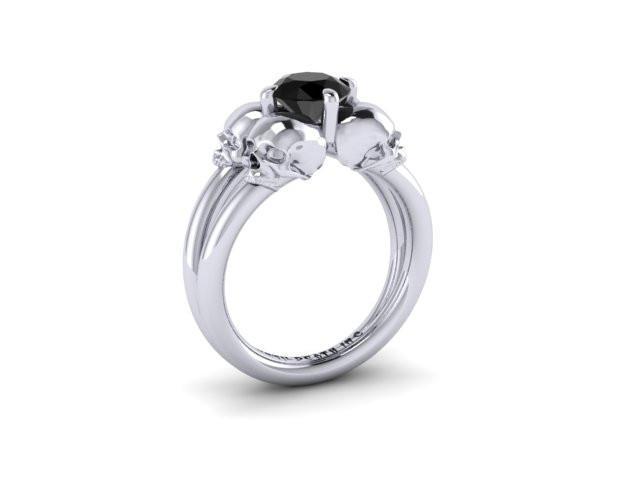 Secret Skull Engagement Ring-UDINC0340