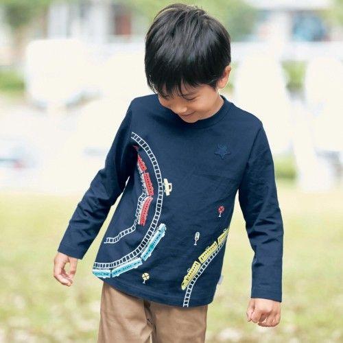 ddf6715611464 まとめ買いでお得 長袖Tシャツ 子供服 男の子  通園 通学 (ジータ ...