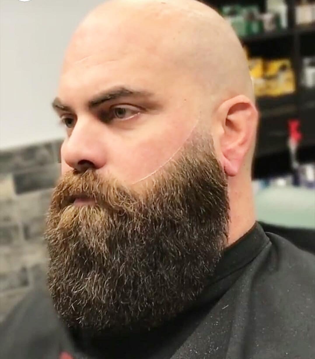 Image May Contain 1 Person Beard And Closeup Bald Men With Beards Bald Head With Beard Bald With Beard