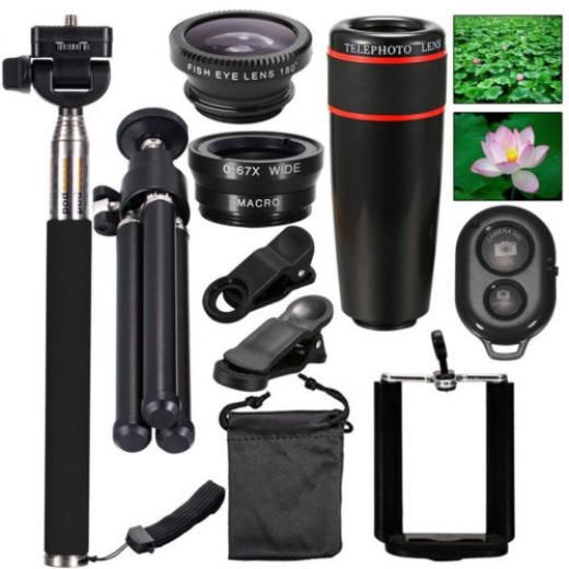 10in1 Lens Mobile Phone Camera Cell Clip Optical Telescope