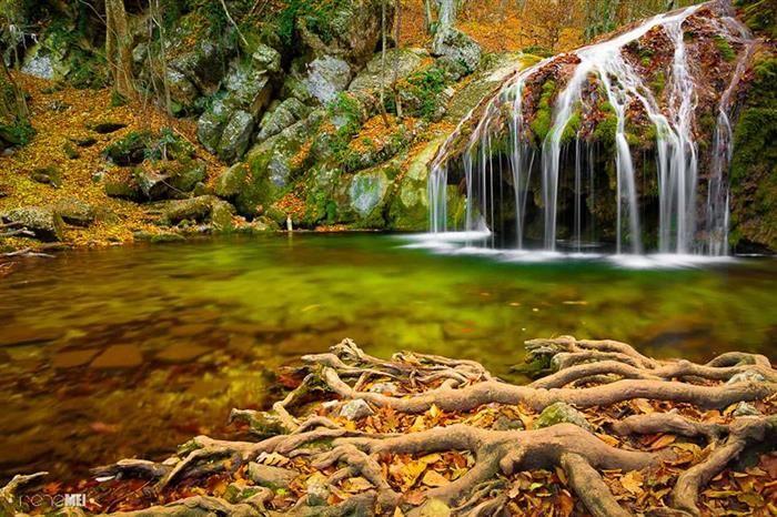 Jur-Jur waterfall in Crimea