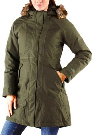 The North Face Women's Arctic Down Parka Rosin Green Heather XXL ...