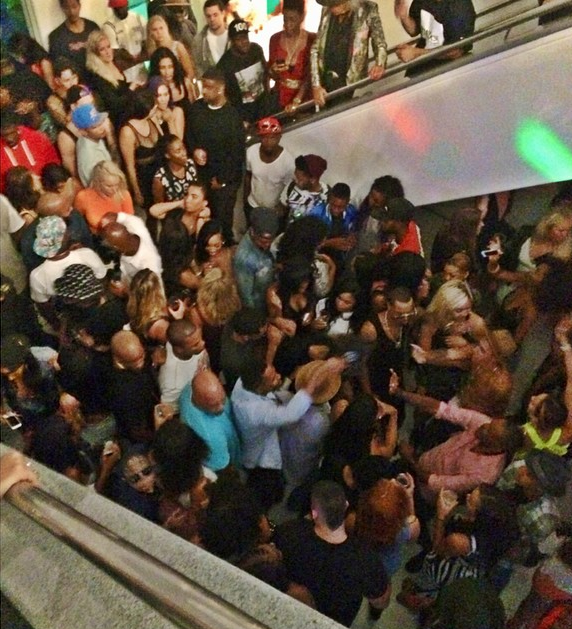 Video: Justin Bieber Attends Chris Brown's Pre-Vma House Party In Los Angeles