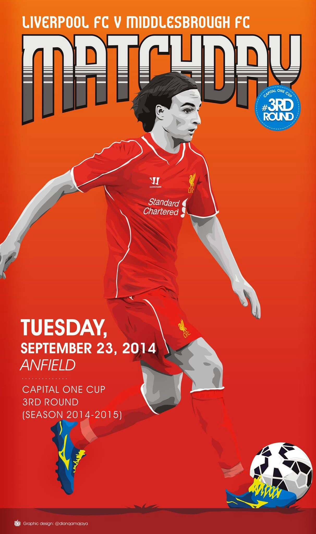 Cup night, September 23, 2014, LFC 1615 Middlesborough. A
