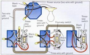 4-way switch wiring diagram | Home electrical wiring ...