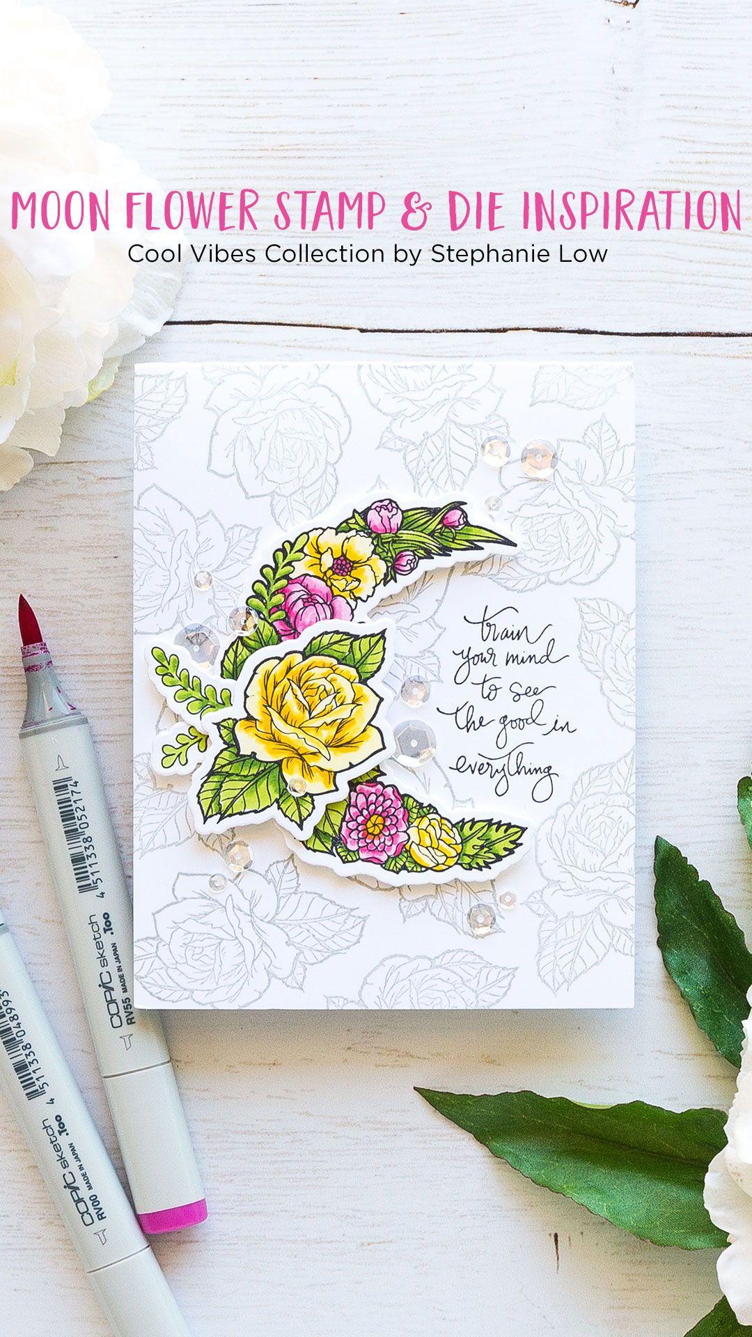 spellbinders moon flower cool vibesstephanie low stamp