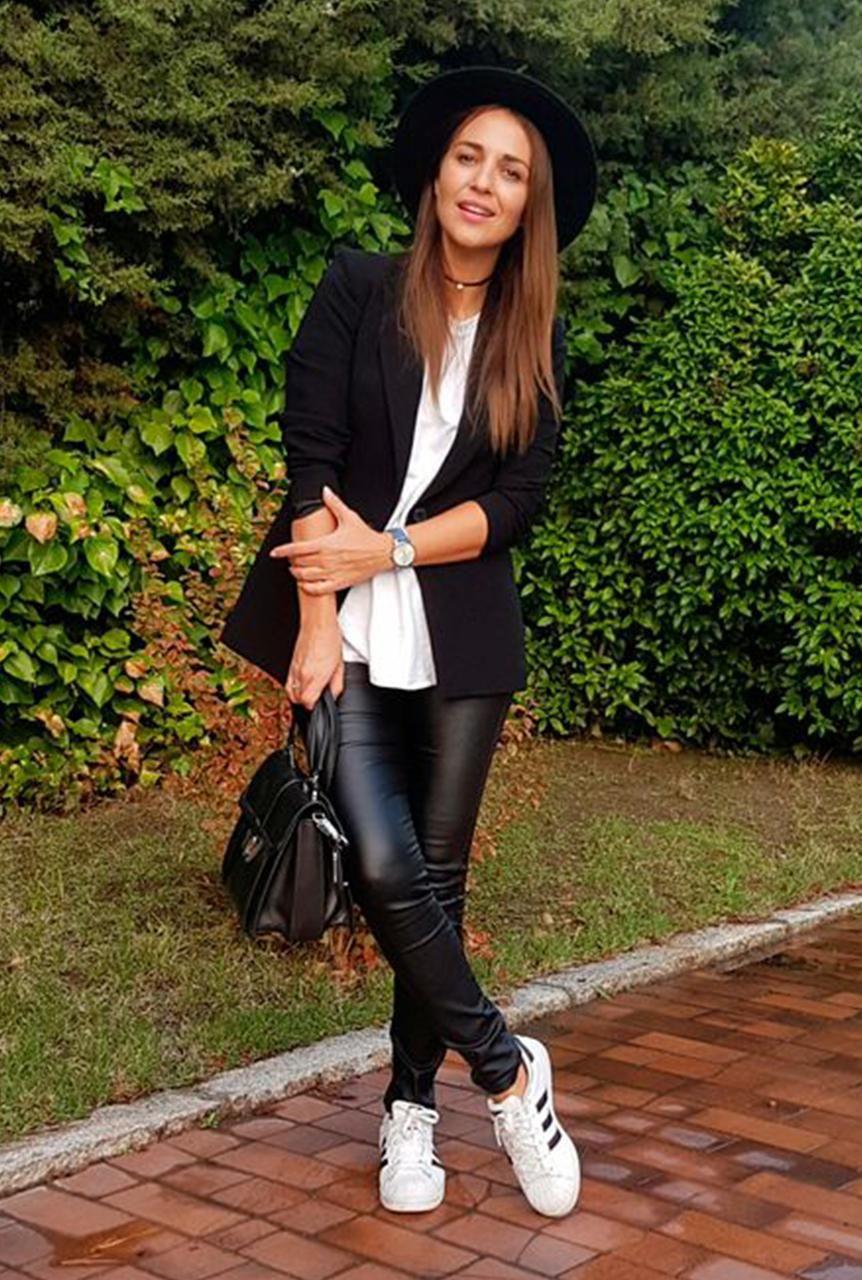 ... pantalones de cuero negros 2574fd51cb47