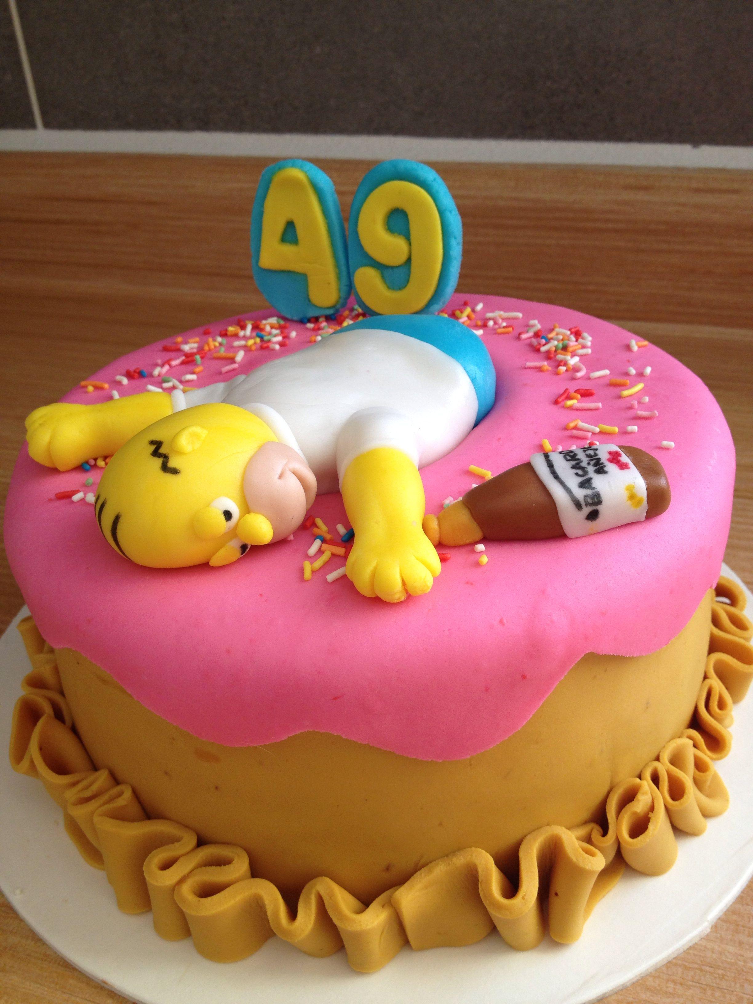 Homero simpson cake   My work in 2018   Pinterest   Cake, Dad cake ...