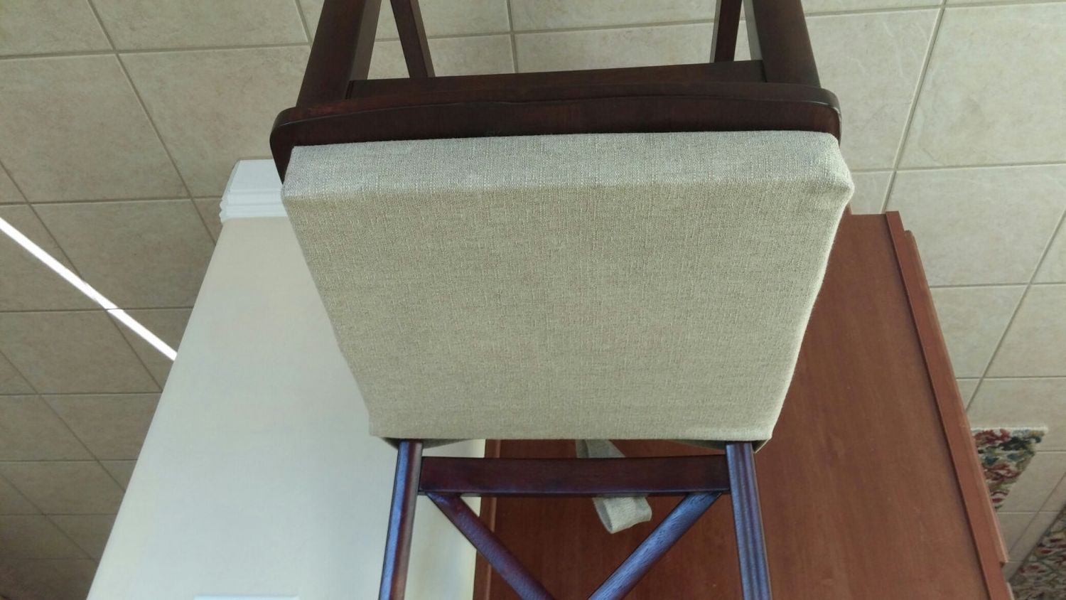 Natural Denton Custom Chair Cushion Cover With Ties Kitchen Chair Chair Pad Barstool Counterstool Chair Cushions Custom Chair Cushion Chair Cushion Covers