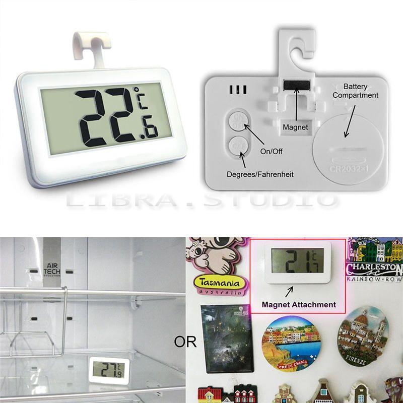 2 Pack Blue Digital Fridge Refrigerator Freezer Thermometer,Max//Min Record