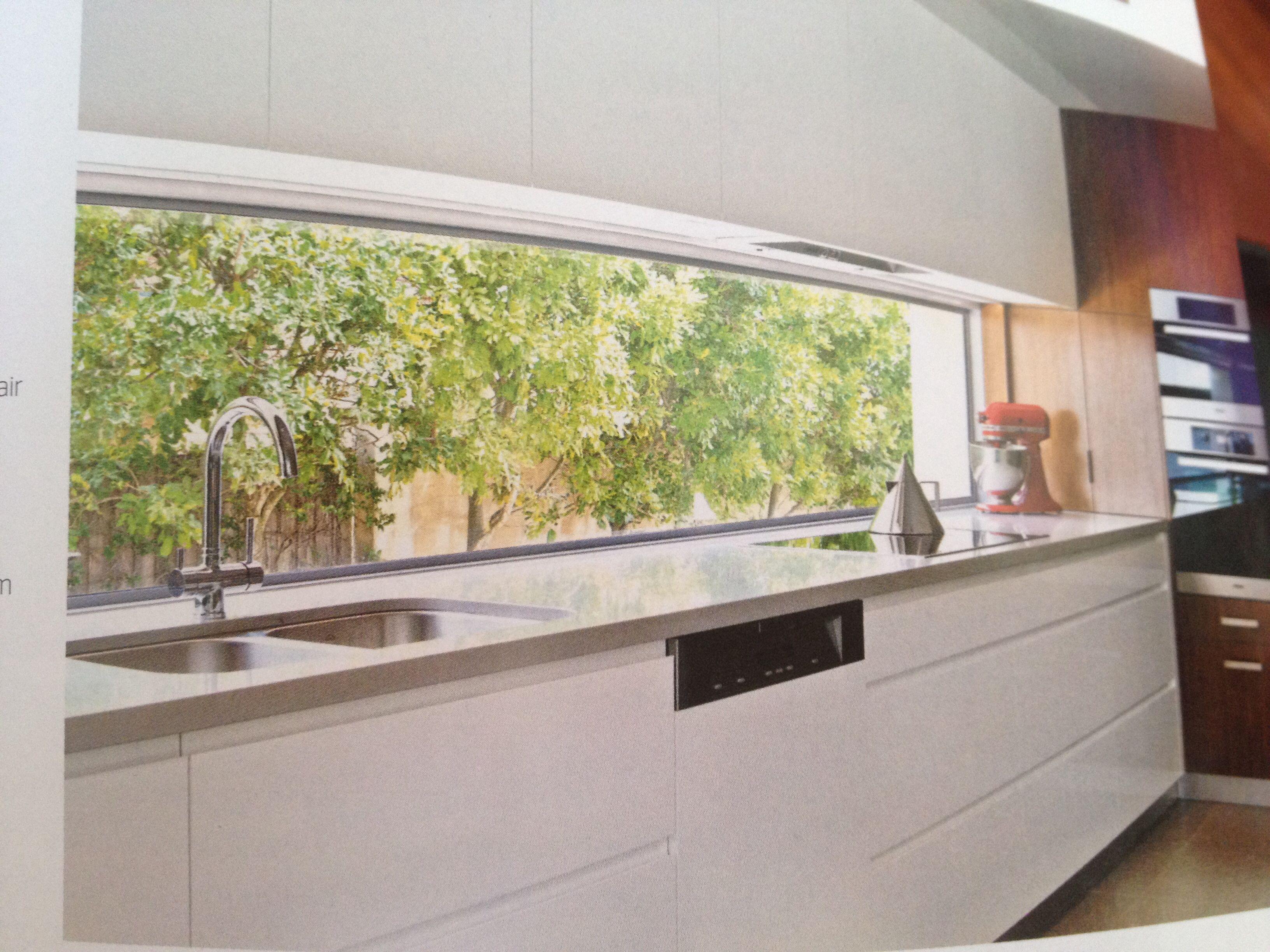 Kitchen window from outside  greenery outside the kitchen splash back window absolutely love