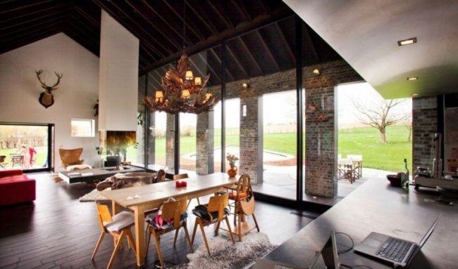 Renovierung Landhaus Moderne Einrichtung Wohnbereich Box In Box System  Verwendet Home Design Ideas