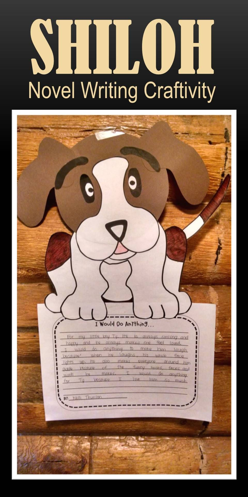 hight resolution of FUN and CUTE writing craftivity to do with your class after reading the  novel Shiloh!   Shiloh