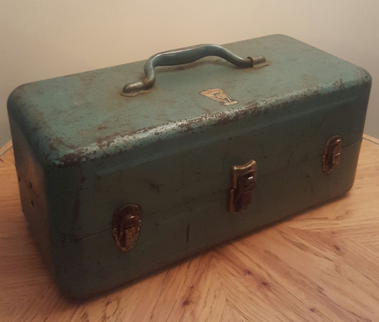 Vintage Metal Tackle Box My Buddy Tackle Box Falls City Tackle Box