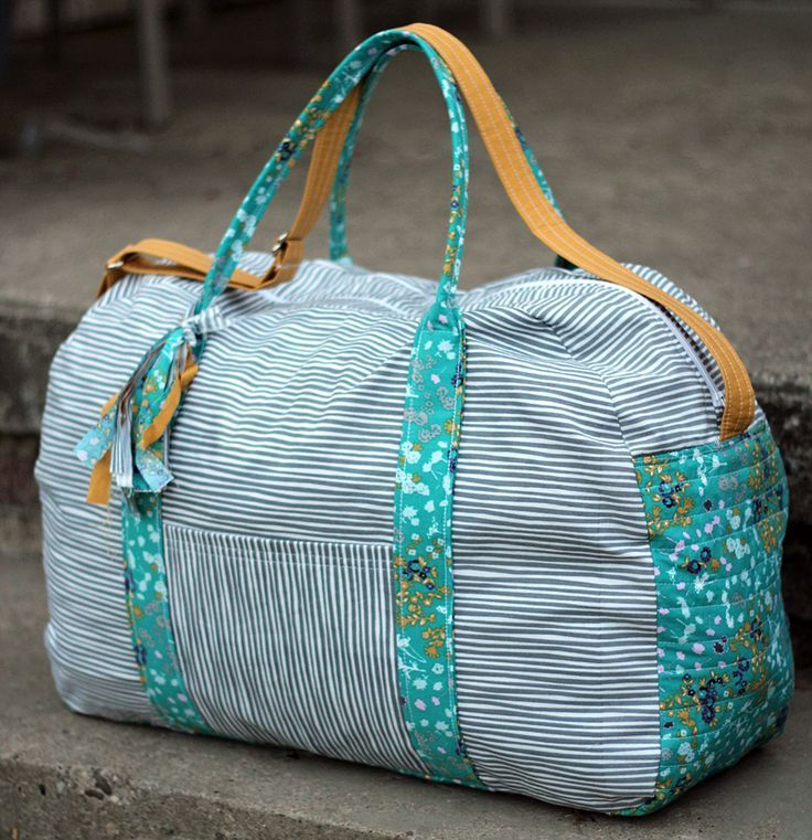 A New Duffle for the Traveler   Duffle bag sewing pattern by ...
