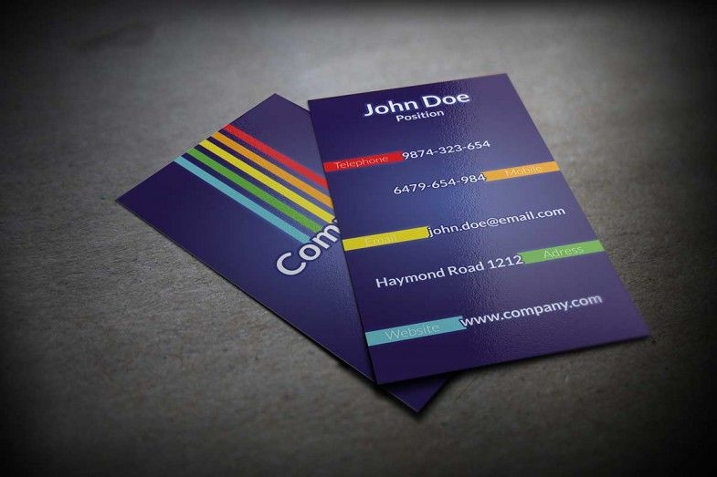 Colorful Business Card Psd Template Business Card Template Photoshop Colorful Business Card Business Card Psd